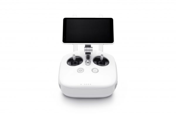 The Phantom 4 Pro's controller, seen here with the optional monitor.