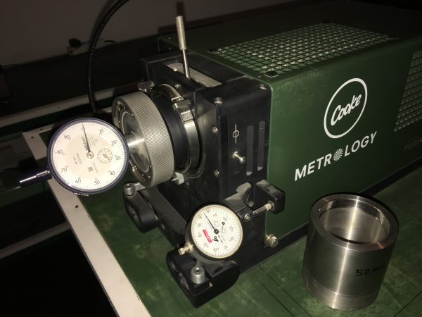 The Cooke lens projector used at G.L. Optics.
