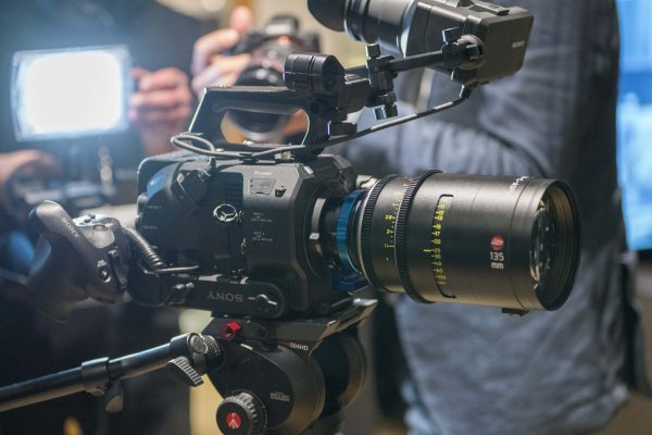 The FS7 II happily supporting a Leica cine lens and MTF Services PL-to-E adapter