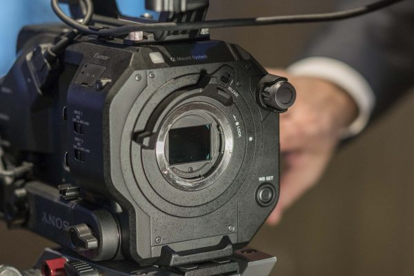 The electronic variable neutral density filter and new locking lens mount are key features