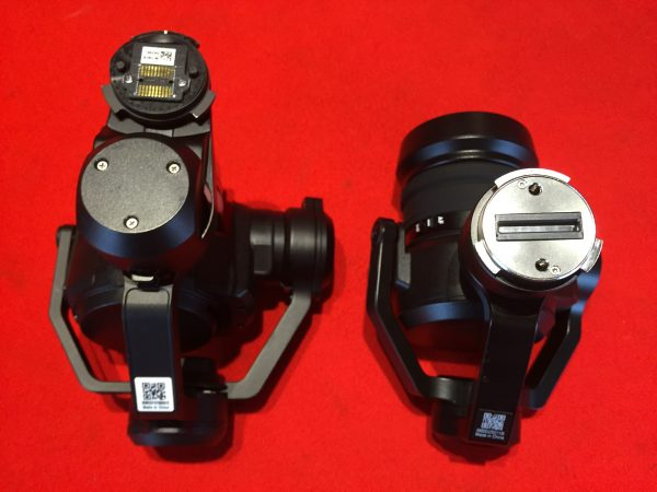 The DJI X5 (left) and X5S have completely different mounts