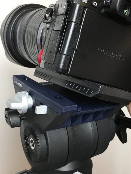 The new snap-on sliding plate is compatible with some Manfrotto and Sachtler models