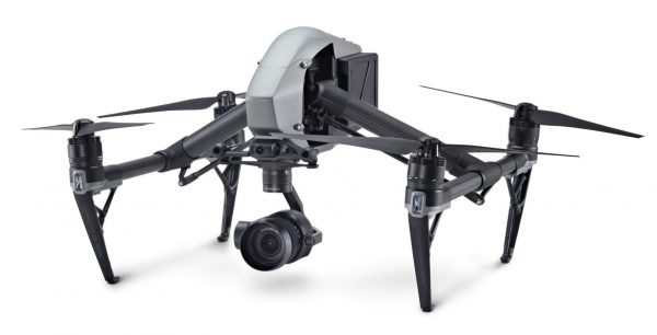 The Inspire 2's airframe has been strengthened to better cope with the weight of X5-series cameras and their integrated gimbal.