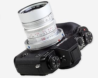 The Baveyes with Leica lens on a Fuji camera