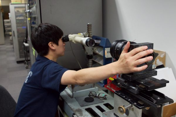 Testing the Sigma 18-35mm T2 lens on a collimator