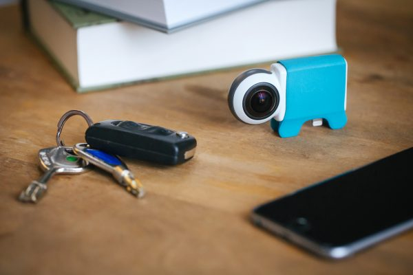 The Giroptic iO camera is smaller than an Altoid tin and plugs into the lightning port of an iPhone or iPad.