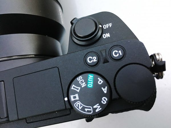 You can assign a custom button to switch between AF and manual focus