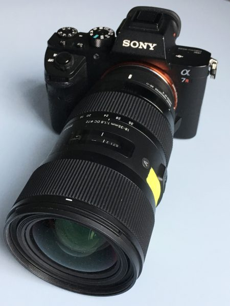 The Sigma 18-35mm f1.8 is a popular choice for video shooters.