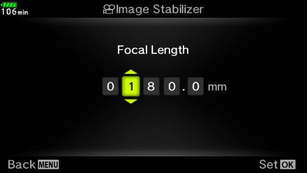 If you are using a non electronic lens then you will need to set the focal length to get optimal sensor shift stabilisation