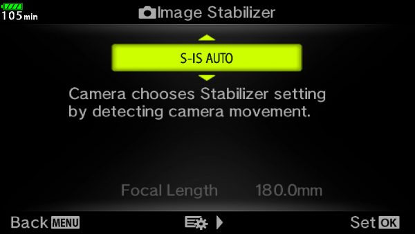 I left the stabilisation in Auto. You can disable stabilisation in one of the axes if panning