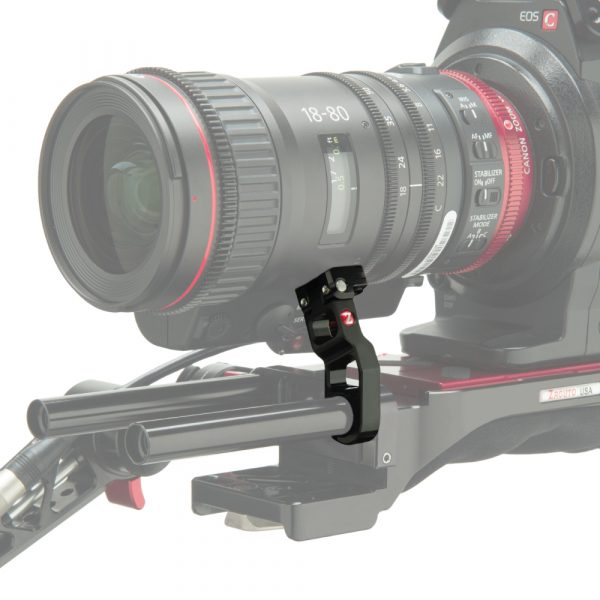 The Zacuto lens support for the Canon 18-80 compact-servo lens