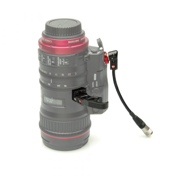 The Zacuto lens support and cable