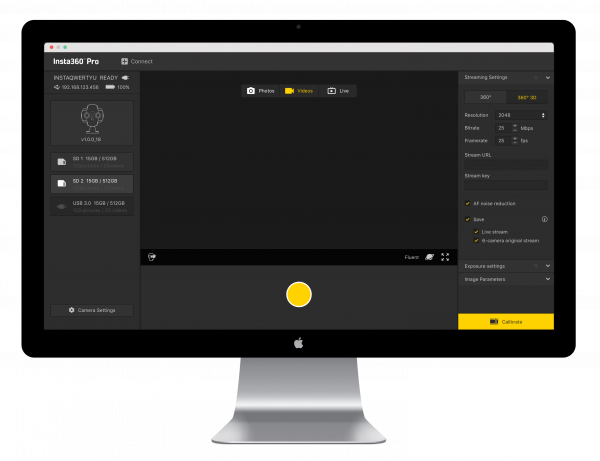 Insta360 Studio auto-stitches footage and runs on Mac, Windows and iPad.