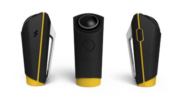 The MySight 360 action camera actually shoots 240 degrees of 4K video.