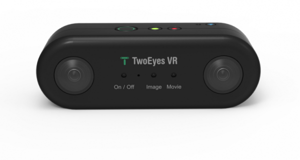 The TwoEyes VR camera is capable of shooting 4K stereoscopic 360-degree video, and is currently available for pre-order at $219.