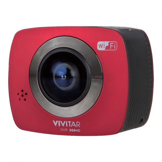 Vivitar's 360-degree action camera includes a 2-inch preview screen. The camera shoots 1080p video and is expected to ship in the second quarter of 2017.