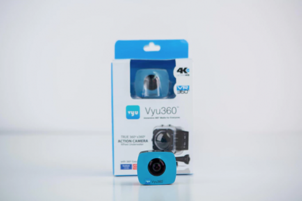 The Vyu360 offers 4K video and can be purchased along with the Vyu360 Envision VR Viewfinder to watch what you're filming in VR while you film it.