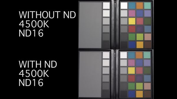 Aputure DEC VARI-ND Color Chart Test