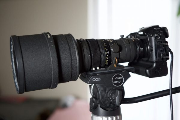 The GH5 with a Nikon 300mm f2.8 prime lens