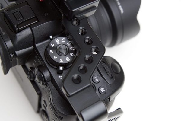 The CAME-TV GH5 cage leaves dials unobstructed