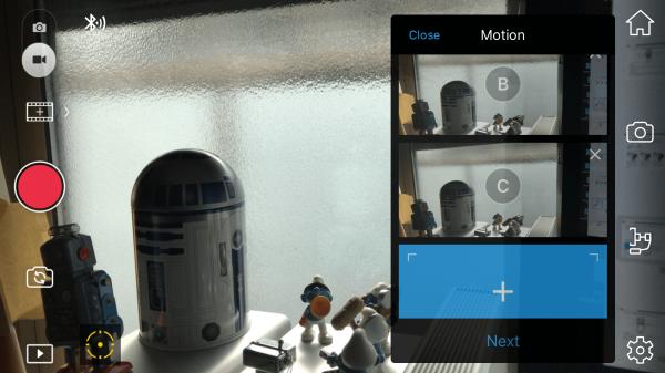 The motion timelapse function of the DJI GO app