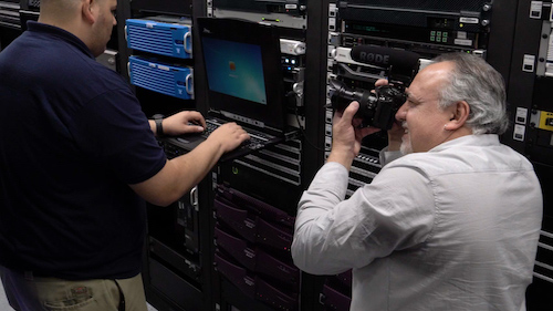 Erik with GH5 in server room