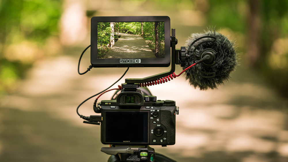 Base Only SmallHD Focus 5 IPS Touchscreen HDMI On-Camera LED Monitor with Daylight Visibility with Core SWX NPF Flat Pack Designed Focus Monitors 1280x720