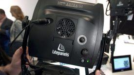 LitePanels Astra 6X Newsshooter at NAB 2017