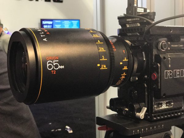 Atlas Lens Co. Orion 65mm T2 mounted on a RED camera