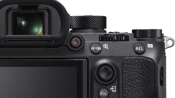 Sony a9 new video record button