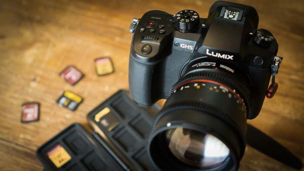 GH5 with SD Cards