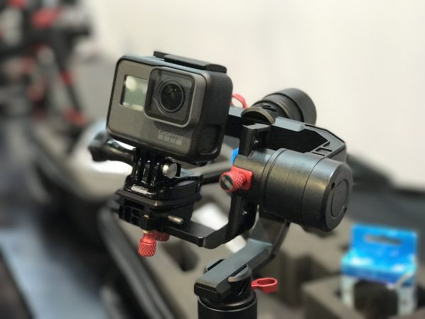 The SPRY gimbal with a GoPro