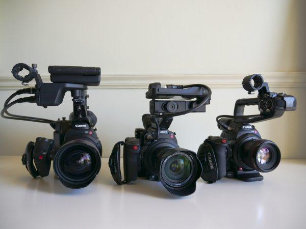 Canon C200, C300 Mk II and C100 Mk II