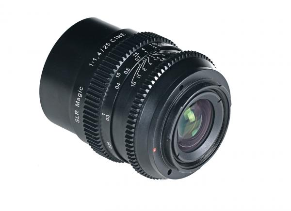 The SLR Magic 25mm f1.4
