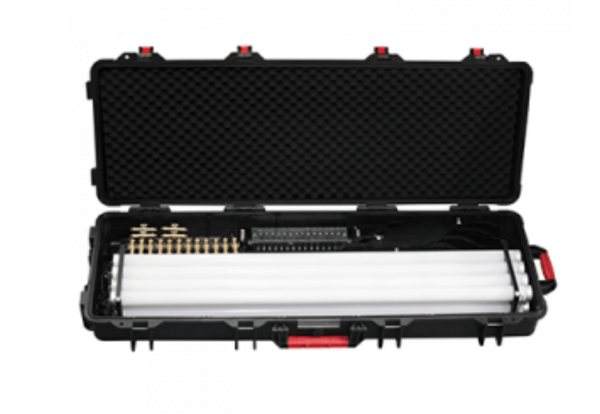 The Astera AX1 Pixeltube travel and charging case