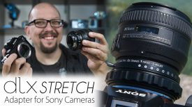 3 in 1 Lens Adapter for Sony Cameras The DLX Stretch Packs 3 Creative Modes Into a Lens Adapter