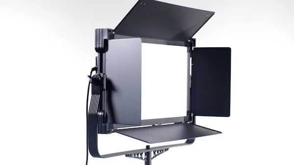 Grid and Carrying Case Bicolor Dimmable Studio Light with Barndoors Fotodiox Pro Factor 1.5x1.5 V-3000ASVL Kit