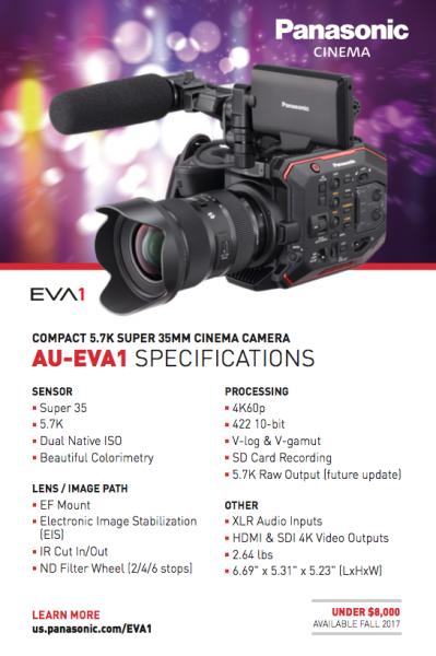 Panasonic AU-EVA1 first impressions - Newsshooter