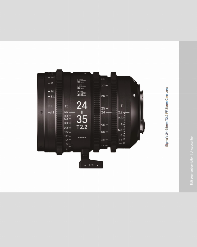 Sigma full frame 24-35mm T2.2 Cine Zoom pricing announced - Newsshooter