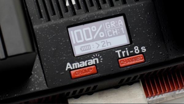Aputure TRI-8 LCD power