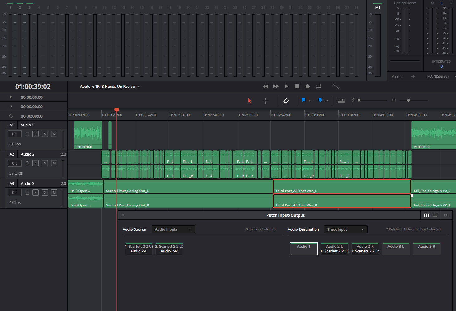 DaVinci Resolve 14 audio
