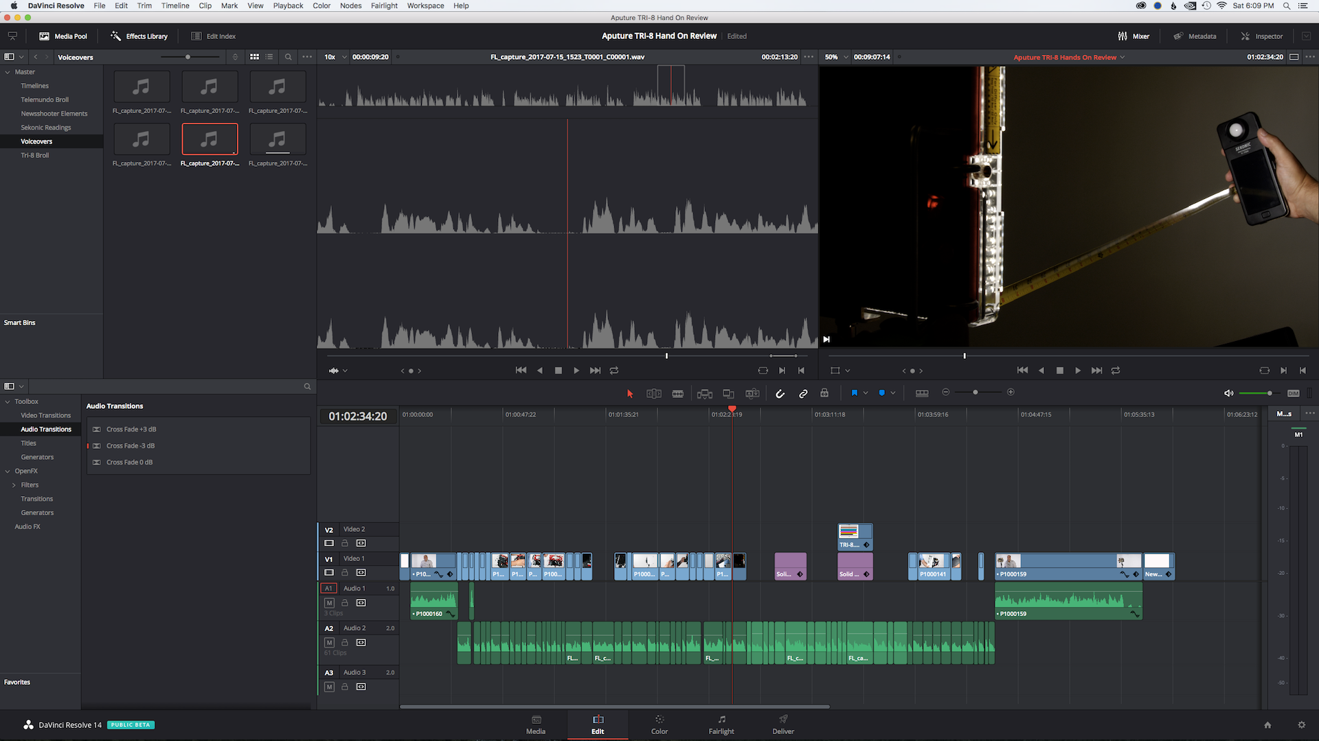 editing in Resolve 14