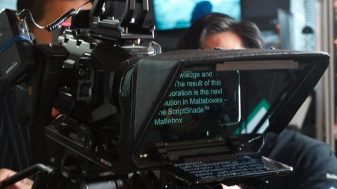 Genus teleprompter mattebox Newsshooter at IBC 2017