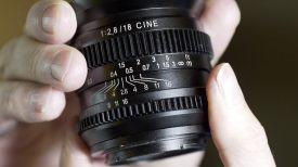 SLR Magic 18mm f2.8 cine lens