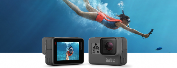 GoPro HERO6 – UHD 4K video at up to 60 fps, and 240 fps video at up