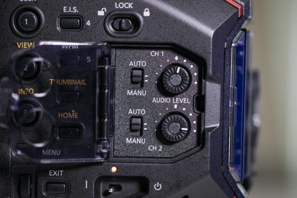 Panasonic EVA1 audio settings