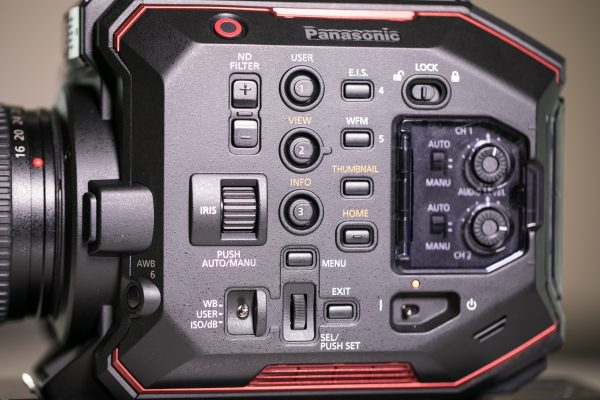 Panasonic EVA1 buttons