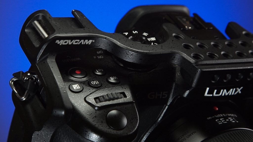 Movcam GH5 cage button access