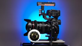 Movcam GH5 cage with follow focus