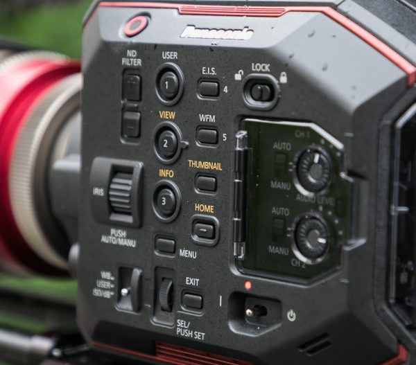 Panasonic EVA1 camera controls